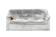 Old Sofa On Isolated White Background