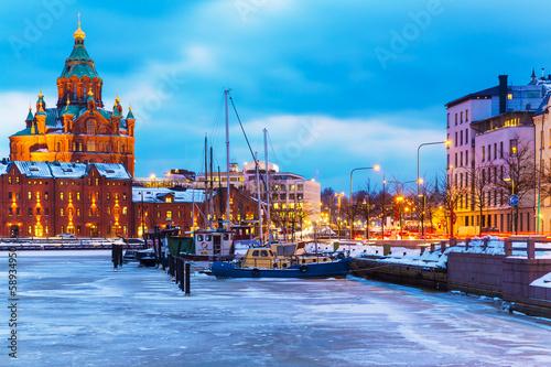 Obraz na plátně Winter in Helsinki, Finland