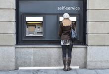 Girl At ATM