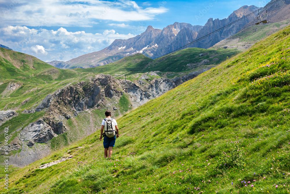 Fototapety, obrazy: Trekking in the Spanish Pyrenees