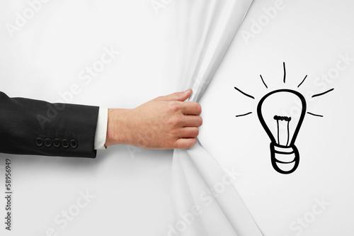 Fotomural drawing lamp