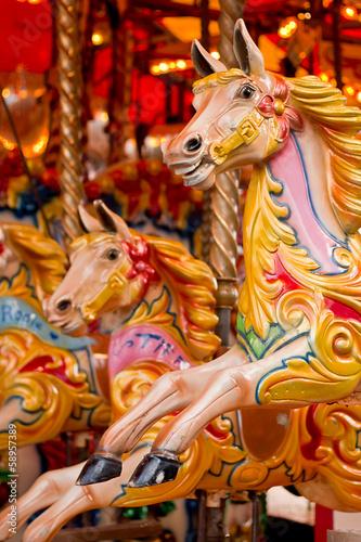 Fotografie, Obraz  traditional funfair carousel