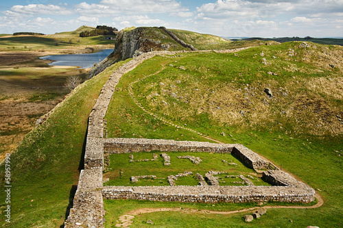 Fototapeta Milecastle 39 on Hadrians Wall