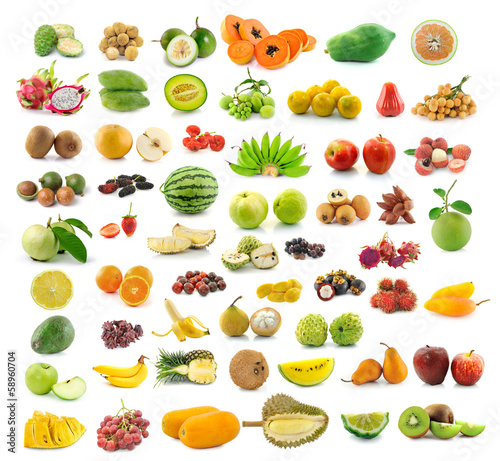 Collection of fruit Wallpaper Mural