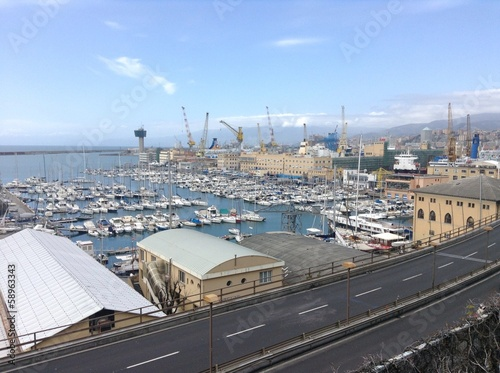 Foto op Canvas Stadion Hafen Genova