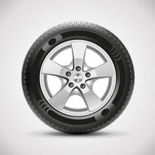 Car Tire, Vector