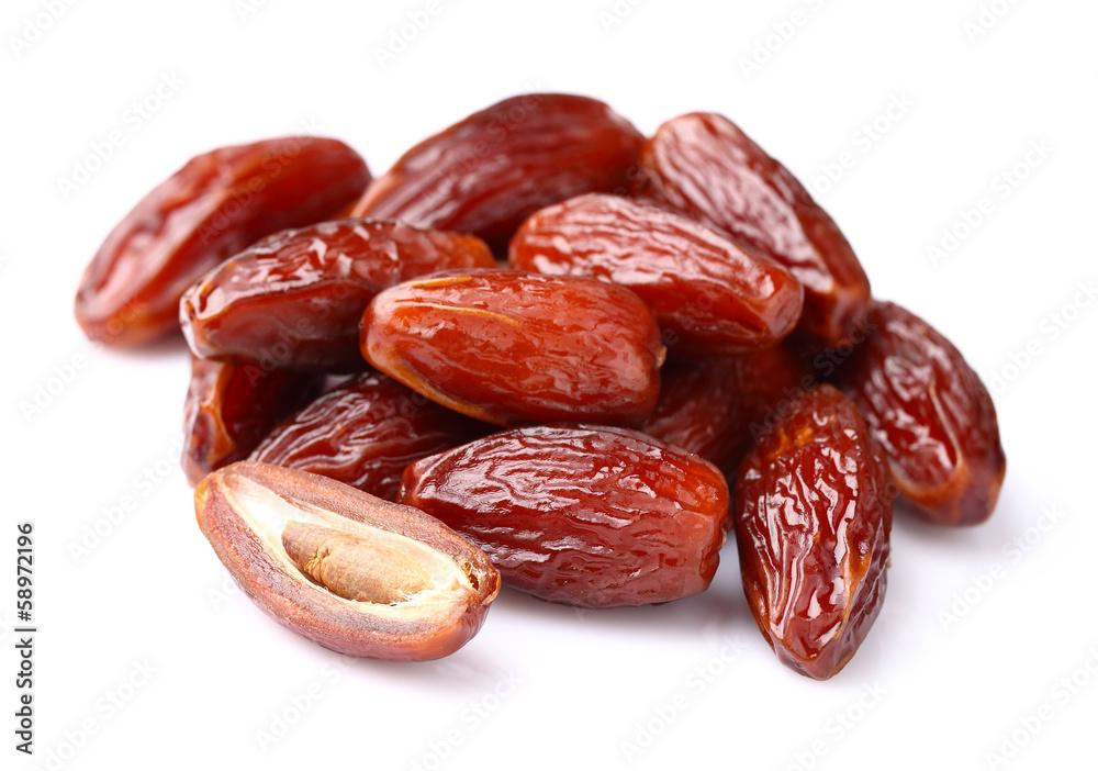 Fototapety, obrazy: Dried dates in closeup
