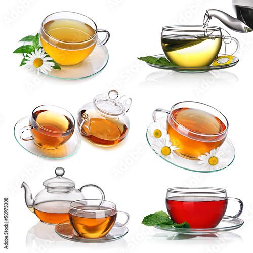 kolaz-herbaty-z-filizankami-herbaty-i-czajnikiem