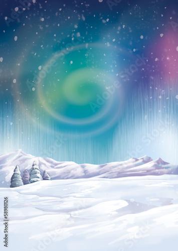 Photo  aurora boreal