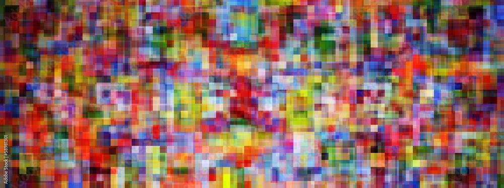 Fototapety, obrazy: Mosaïque carré coloré large