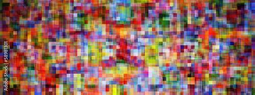 Fotografia, Obraz  Mosaïque carré coloré large