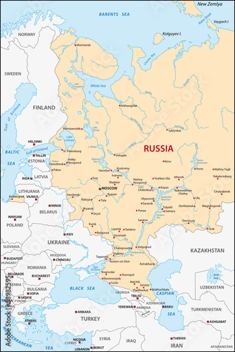 European Russia Map Buy This Stock Vector And Explore Similar
