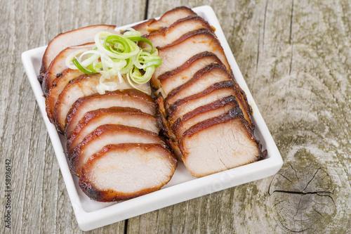 Valokuva  Char Siu Pork - Chinese roasted pork loin.