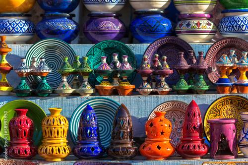 Poster Maroc Moroccan traditional ceramics