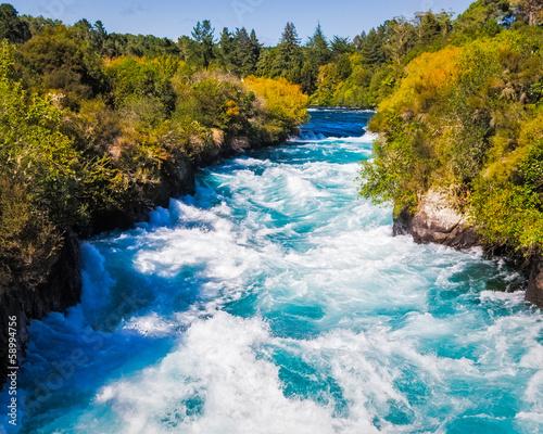 Poster Nouvelle Zélande Huka Falls on the Waikato River near Taupo