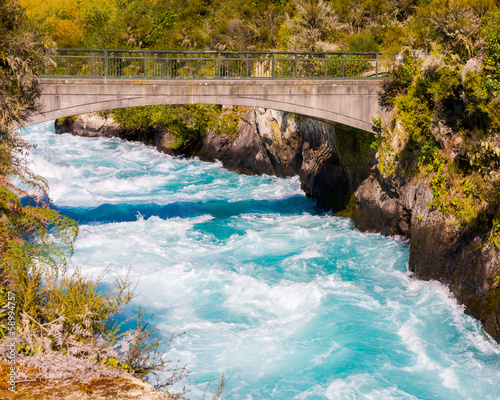 Foto auf Leinwand Neuseeland Huka Falls on the Waikato River near Taupo