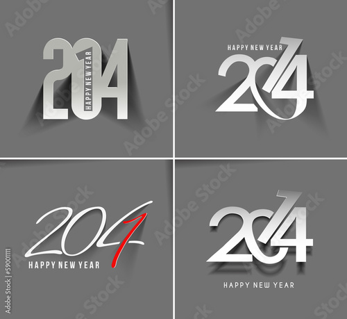 Photo Happy New Year 2014 Text Design (set 2)