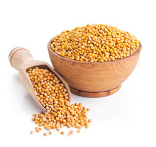 White Mustard Seeds Isolated O...