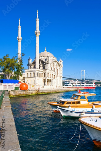 Canvas Prints Turkey Ortakoy Mosque