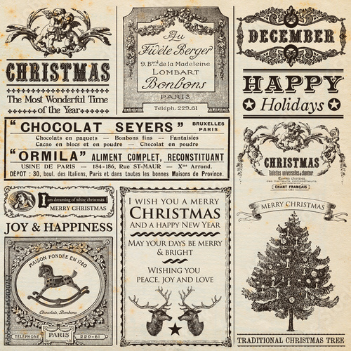 Christmas Newspaper - Buy this stock illustration and explore ...