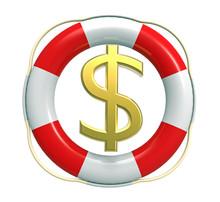Lifebuoy With Dollar Sign