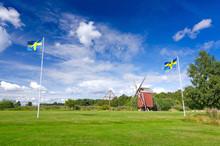 Summer Field With Swedish Nati...