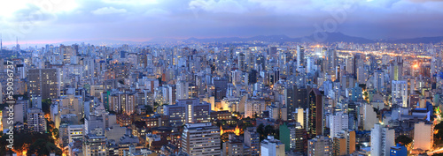 Wall Murals Brazil Aerial view of Sao Paulo in the night time