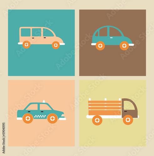 Foto op Aluminium Cartoon cars transport design
