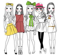 Five fashion girl