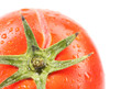 Background of tomato with water drops.