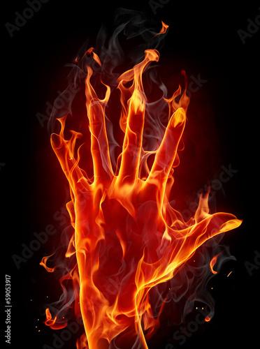 Keuken foto achterwand Vlam Fire hand