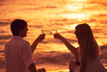 Silhouette Of Couple Enjoying ...