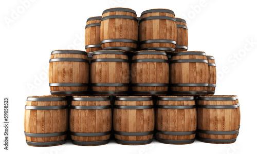 Valokuva Stack of barrels