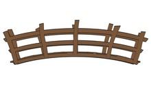 Cartoon Image Of Wooden Bridge