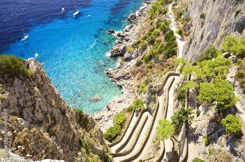 Photo sur Toile Naples Via Krupp - Capri