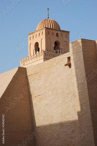Staande foto Tunesië The Minarets and mosques in Tunisia