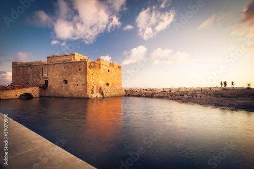 Photo sur Toile Chypre Late afternoon view of the Paphos Castle (Paphos, Cyprus)