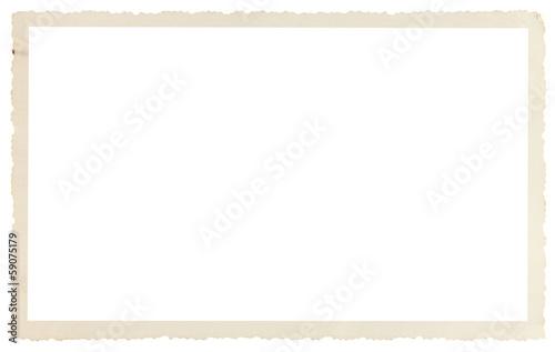 Fotografia, Obraz  cadre vieille photo ancienne à bords dentelés