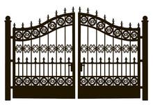 Openwork Steel Gate