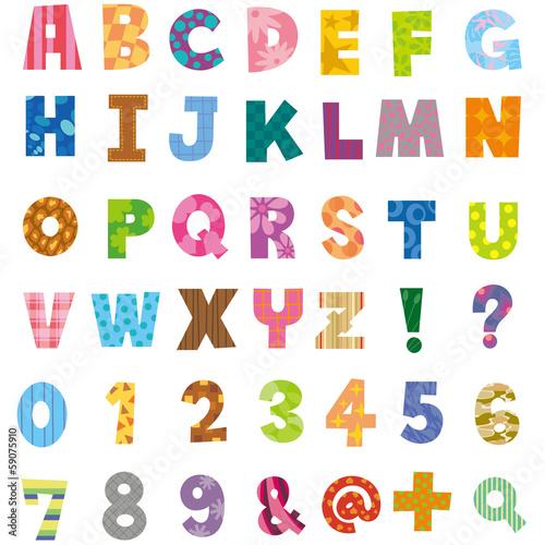 Fotografía  アルファベット、数字