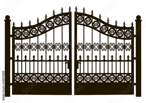 Fotografie, Obraz  Openwork Steel Gate