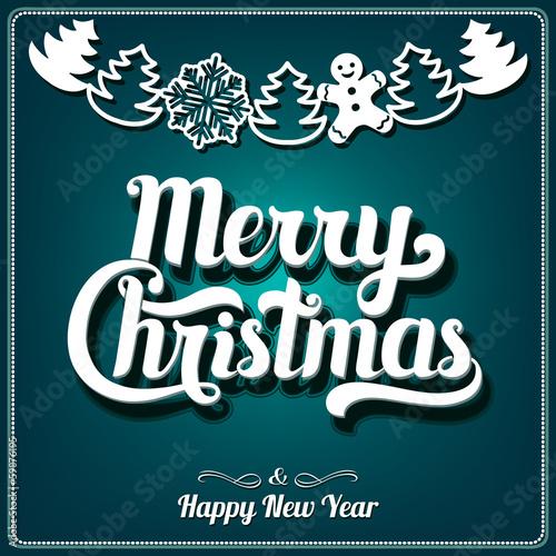 Fototapeta Christmas Greeting Card obraz na płótnie