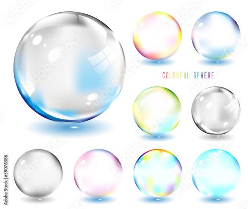 Cuadros en Lienzo  虹色のシャボン玉  glass ball