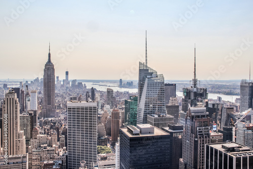 Cityscape view of lower New York City
