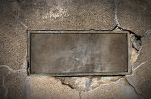 Metal Plate On Concrete Wall