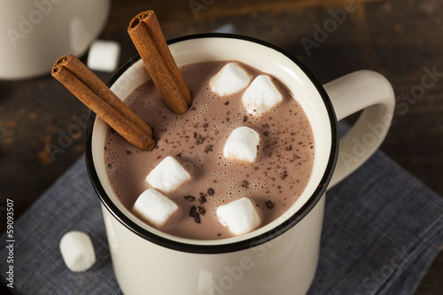 Fotobehang Chocolade Gourmet Hot Chocolate Milk