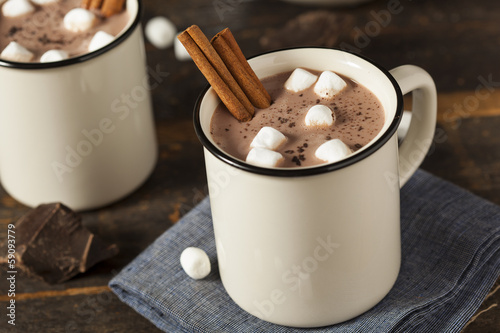 Staande foto Chocolade Gourmet Hot Chocolate Milk