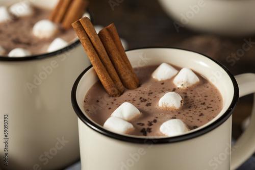 Foto op Plexiglas Chocolade Gourmet Hot Chocolate Milk