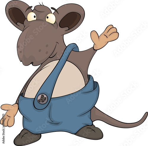 Photo  Cute cartoon mouse