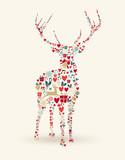 Merry Christmas deer illustration